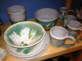 Anne's pottery turquoise